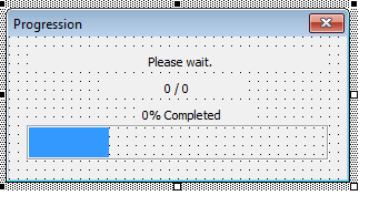 Progress bar- Simple Excel VBA