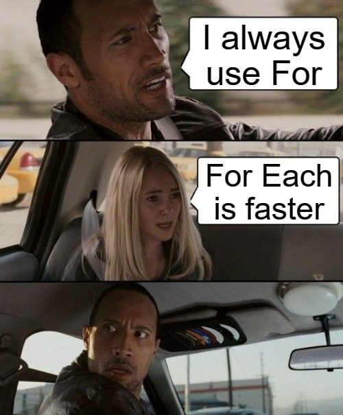 for vs for each which is faster