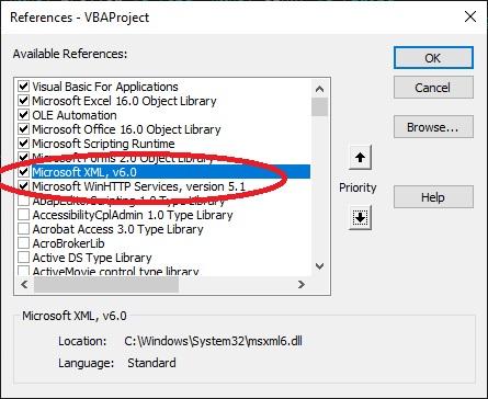 XMLHttp vs WinHttp - speed comparison references