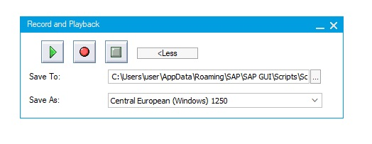Record macro in SAP using SAP Script Recording record and playback more