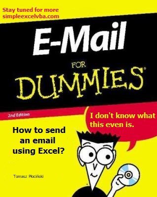 How to send an email using Excel for dummies