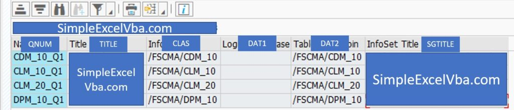How to deal with SAP tables - part 1 table column names