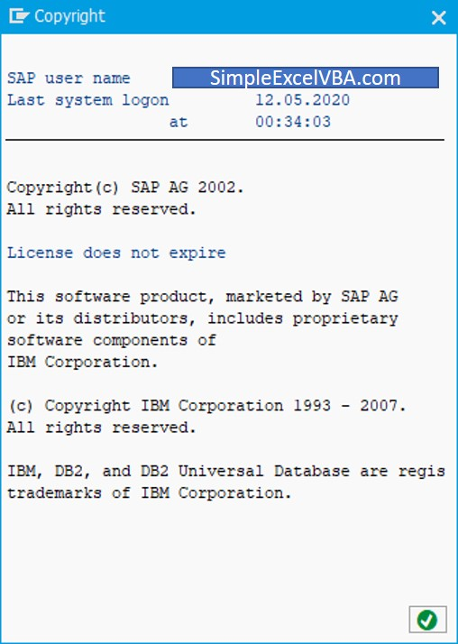 How to manage with copyright window in SAP