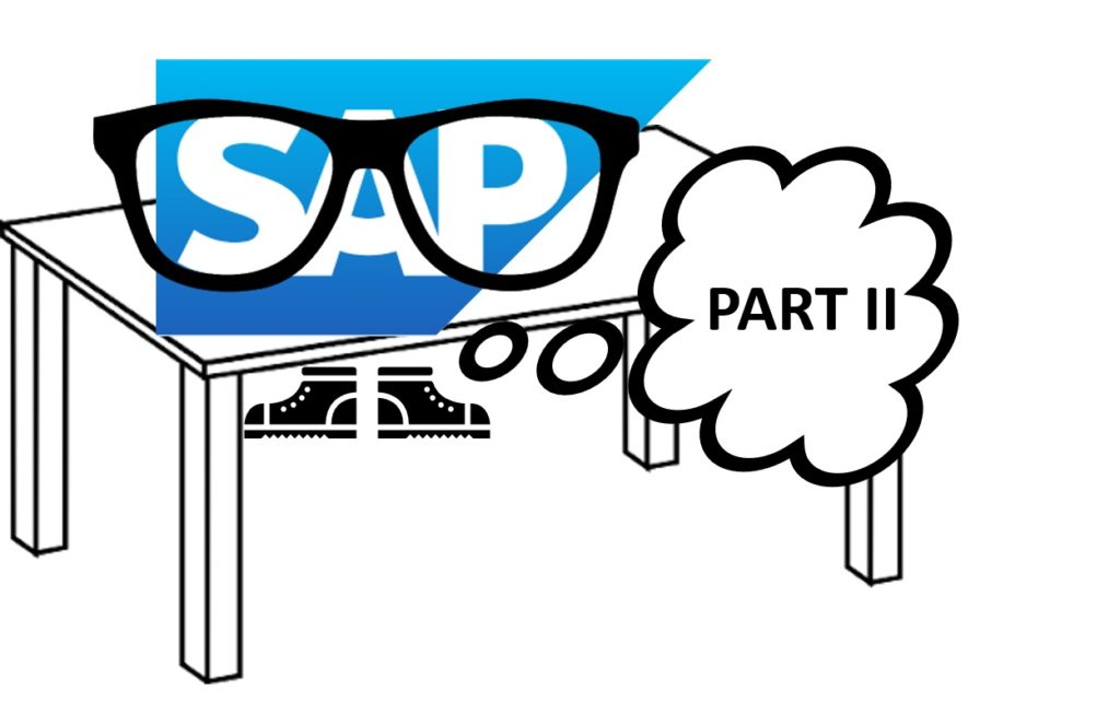 How to deal with SAP tables - part 2 joke